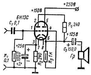 Рис. 32. Практическая схема