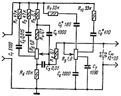 Схема регуляторов тембра на