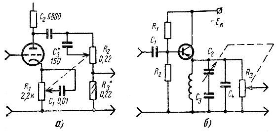 Схема регуляторов тембра для
