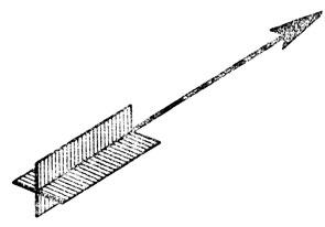 Рис. 70. Условное обозначение направления тока в проводниках