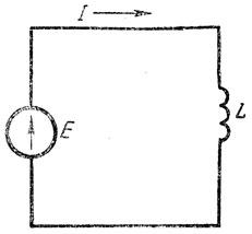 Рис. 137. Цепь переменного тока, содержащая индуктивность