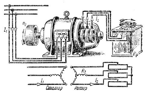 Схема регулировки оборотов асинхронного однофазного двигателя